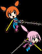Kat and Ana attack