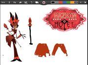 Hazbin Hotel papercraft Alastor (Raido Demon) part 2