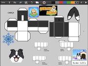 Merge Dogs papercraft Border Collie (winter update)