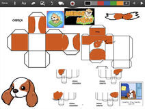Merge Dogs papercraft Cavalier King Charles Spainel (winter update)