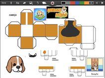 Merge Dogs papercraft Beagle