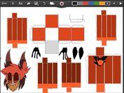 Hazbin Hotel papercraft Alastor (Raido Demon) part 1