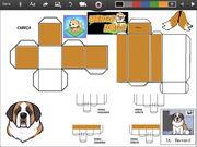 Merge Dogs papercraft St. Bernard (winter update)