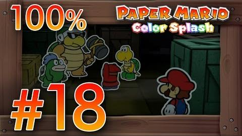Paper Mario Color Splash 100% Walkthrough Part 18 Dark Bloo Inn 100% Wii U Gameplay