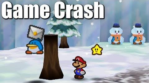 Invisible Penguins Crash Paper Mario