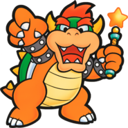 Bowser Star Rod Artwork - Paper Mario