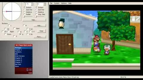 Paper Mario - Blue House Skip with Controller Input (Spin Method)