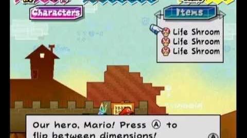 Super Paper Mario Life Shroom Jump 1-2
