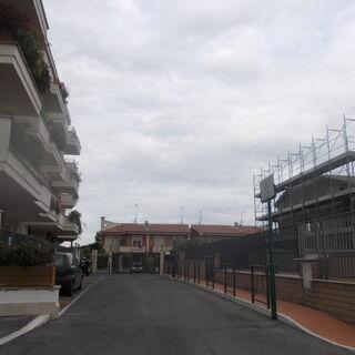 Veduta di Via Romano Scarpa a Roma.