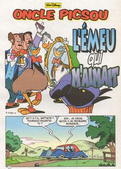 Zio Paperone e emu di sangue blu