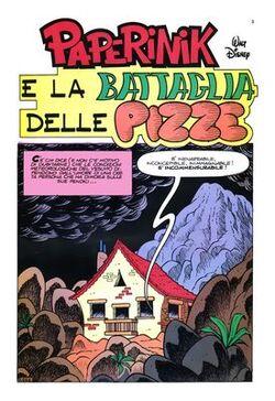 Paperinik e la battaglia delle pizze