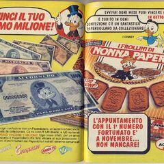 Pubblicità delle banconote Accornero.