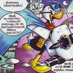 Pikappa indossa per la prima volte l' Exatransformer per fronteggiare una truppa evroniana che ha assalito il party organizzato da Paperon de' Paperoni al Ducklair Tower, in PKNA numero zero <i>Evroniani</i>.