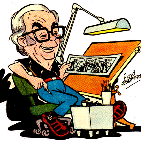 Una caricatura di Floy Gottfredson