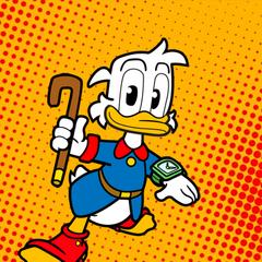 Zio Paperone nel suo nuovo aspetto come e' recentemente apparso nel nuovo sito web di topolino topolino.it
