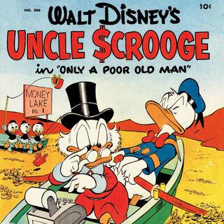 Copertina originale del primo numero di <i>Uncle Scrooge</i>