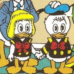 Della Duck da piccola insieme a Paperino