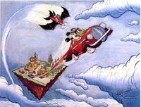 Quadro topolino e uomo nuvola