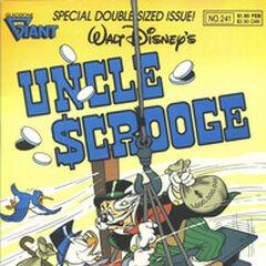 Copertina della testata americana <i>Uncle Scrooge</i> 241 su cui fu ristampata la storia<a class=