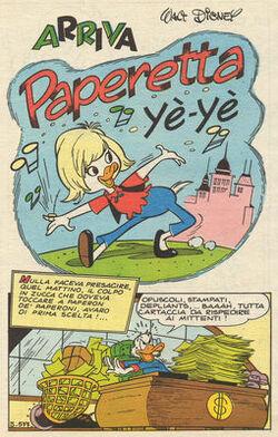 Arriva Paperetta Yè Yè
