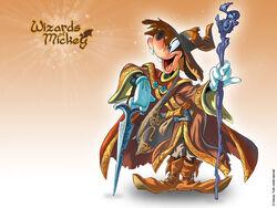 Pippo Wizard of Mickey