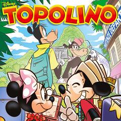 Copertina dell'autore dedicata a Topolino e le vacanze in fuga