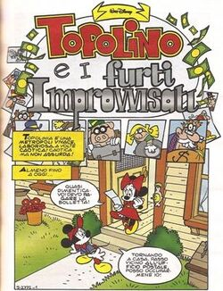 Topolino e i furti improvvisati