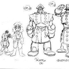 Bozzetto Tenente Neve e i suoi assistenti robotici