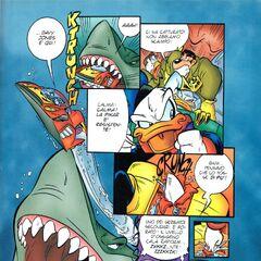 Una pagina che rende bene le dimensioni e la forza del mostro
