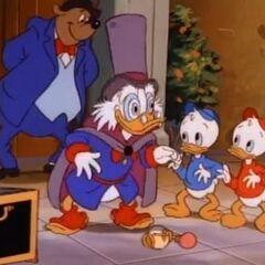 Paperone trasformato in <i>zio Scialacquone</i> dalla formula di Jeckyll (Duck Tales ep.60)