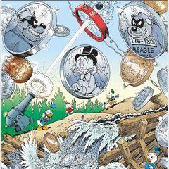 Illustrazione realizzata da Don Rosa per commemorare la storia. Apparsa per la prima volta sulla rivista francese <i>Picsou</i> n. 338 del marzo del 2000