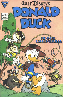 Donald duck in old california