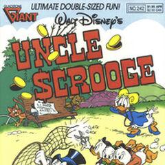 Copertina della testata americana <i>Uncle Scrooge</i> 242 su cui fu ristampata la storia <a class=