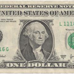 Un dollaro vero.