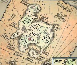Isola del tesoro la mappa