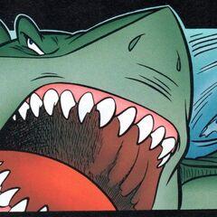 Lo squalo tenta di distruggere il laboratorio di <a href=