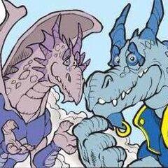 Hypnor e Lady Sauria si arrendono e vanno a vivere pacificamente coi Draghi