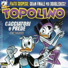 Kay K con DoubleDuck nella copertina di Topolino 2818