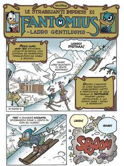 Fantomius sulla neve
