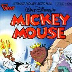 Copertina della testata americana <i>Mickey Mouse</i> 256 su cui fu ristampata la storia <a href=