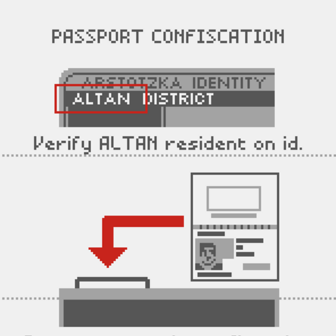 Instructions on confiscating Altan passports.