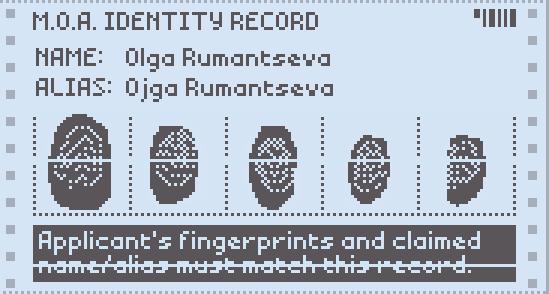 Fingerprint | Papers Please Wiki | FANDOM powered by Wikia