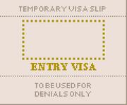Temporary visa slip 1160