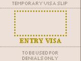 Temporary visa slip