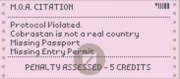 Fake passport citation 1160