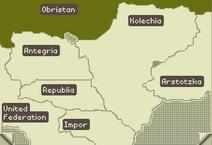 Obristan on map