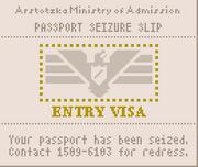 Passport seizure slip 1160