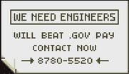 We need engineers