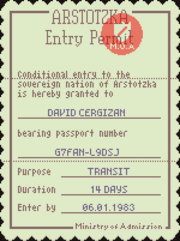 Entry permit 1160