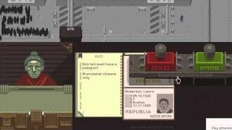 Let's Play Papers, Please (Day 1)